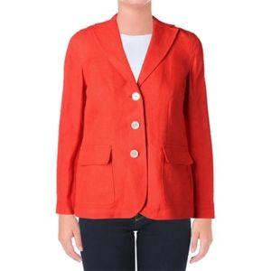 Lauren Ralph Lauren 100% linen orange blazer